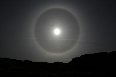 Солнечное гало над Ютой